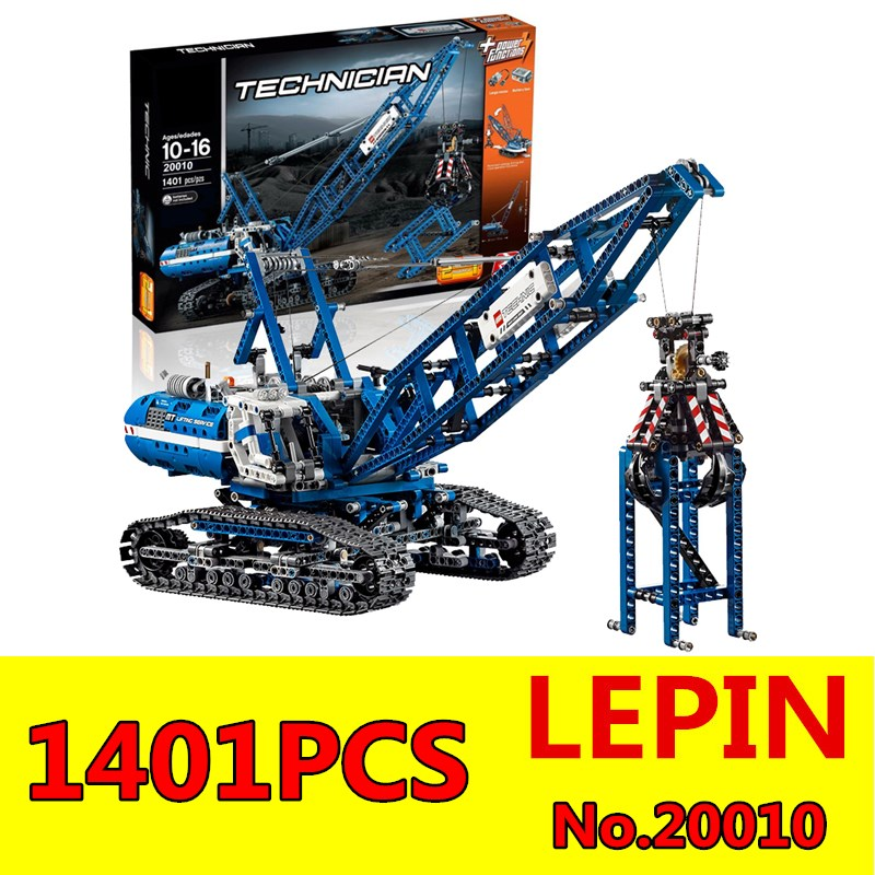 Technic Crawler Crane Model Building Blocks LEPIN 20010 1401Pcs Educational Building Kits Blocks Bricks Children Toys Gift 42042