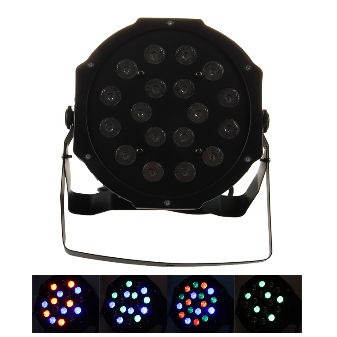 7 canals PAR DJ Disco Light 18W LED - RGB DMX 512 Stage Lights - Stage PAR projector lighting effect - for Christmas Party Fes