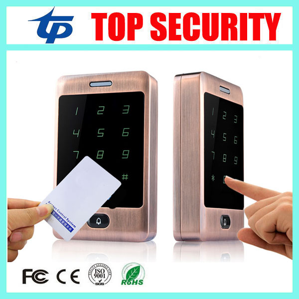 125KHZ RFID card access controller 8000 user RFID card and password surface waterproof touch screen door access control reader