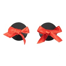 Leather Club Wear Bow Breast Mamilla Cover For Girls