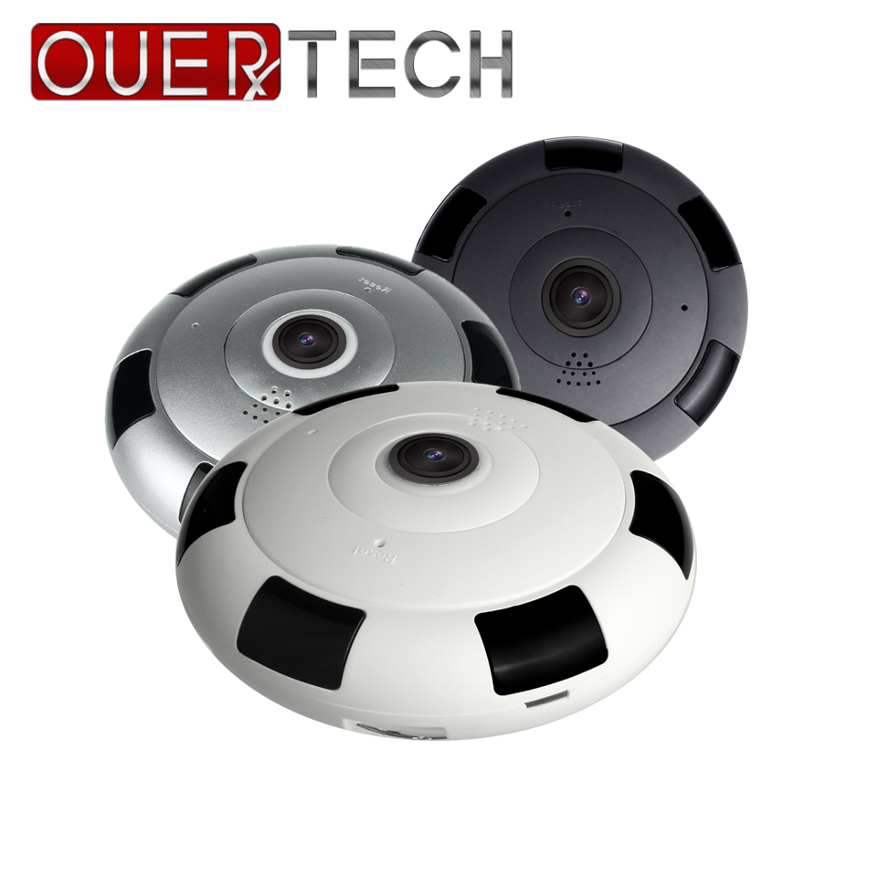 OUERTECH Full view 360 Degree Night vision real time Panoramic 1080P 3D mode WIFI Smart IP Camera support 64g app v380 image
