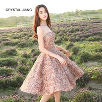 CRYSTAL JIANG 2018 Sweetheart A Line Cheap Brideamaid Dresses Custom made Plus Size Summer Wedding Party Junior Bridesmaid