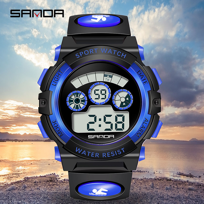 SANDA New Pattern Noctilucent Student Movement Children Watch Outdoor Sport Wrist Watch Men And Women General Purpose P356