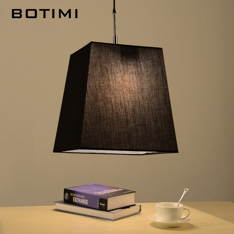 BOTIMI Fabric Pendant Lights With Cloth Lampshade For Kitchen Lamparas Colgantes Home Dining Lamp Indoor LED Lighting Fixtures