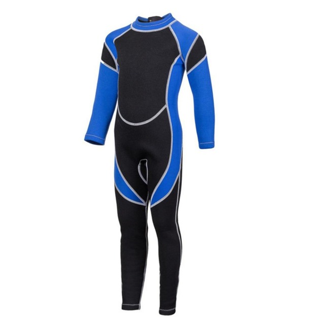 Neoprene divng suit for children keep warm long sleeve one piece surfing clothing kids wetsuit snorkeling rash guard diving suit