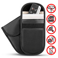1 шт. сумка Фарадея для ключей автомобиля блокировщик сигнала анти-дегазация Противоугонная сумка чехол для клетки Fob сумка без ключа RFID бло...