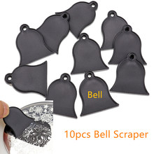 10pcs Scraper Bell Tools Manicure Stamping Nail Kit Set Stamper  for its Intended Purpose Good Cut Angle