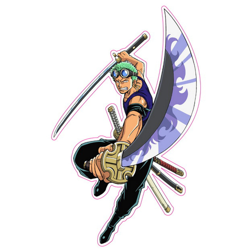 Roronoa Zoro One Piece - Fixed Gear/Luggage/Motor/Car/Refrigerator/Skateboard Stickers Reusable ONEPIECE Stickers