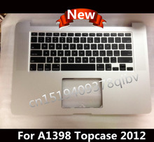 New Topcase / Palmrest For MacBook Pro 15″ Retina A1398 US layout keyboard without trackpad 2012