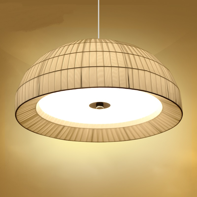 Simple circular pendant lights atmosphere study room living room bedroom creative hat design D45CM D60CM pendant lamps ZA