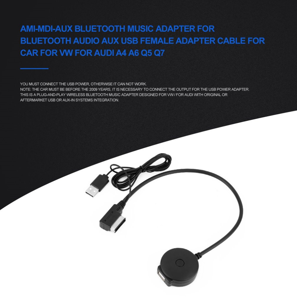 Newest Bluetooth Audio Aux USB Adapter Cable AMI-MDI-AUX Bluetooth Music Adapter for Car for VW for Audi A4 A6 Q5 Q7 Hot Selling