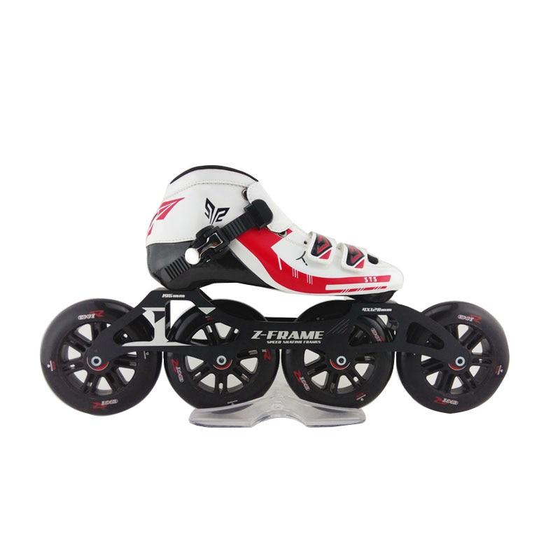 Prix pour Adulte Inline Skate Professions De Patins À Roulettes Slalom Patins de Freinage à Haute Résistance En Fiber De Verre Rouleau De Patinage Patins
