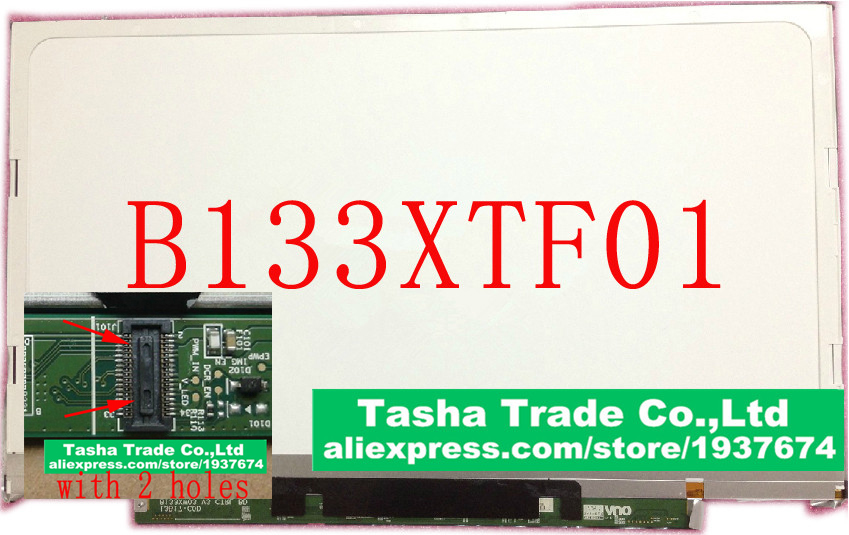 B133XTF01 without 2 Holes for Acer S3 951 S3 391 S3 2464G Laptop LCD screen B133XW03