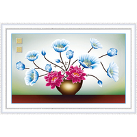5D DIY Diamond Painting Flowers Diamond Embroidery Round Cross Stitch 3D Diamond Mosaic Needlework Crafts Beautiful