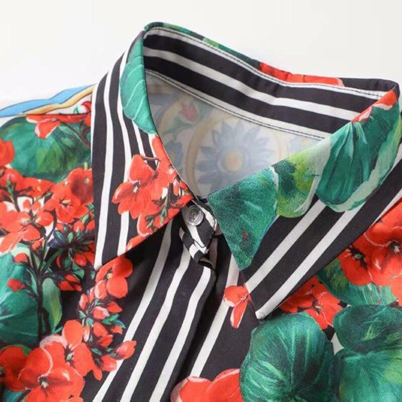 Pour Chic Broderie Printemps Qualité Designer Manches Courtes Soie Été Décontracté Supérieure En Femmes Motif Impression Robe 2019 WSpBp0qA