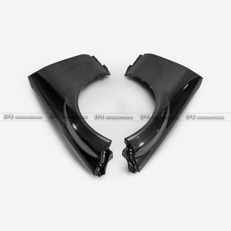 Carbon Fiber OEM Front Fender (No Pre drilled light holes) Glossy Finish Wheel Arch Flare For Mazda MX5 NC NCEC Roadster Miata Body Kits     - title=
