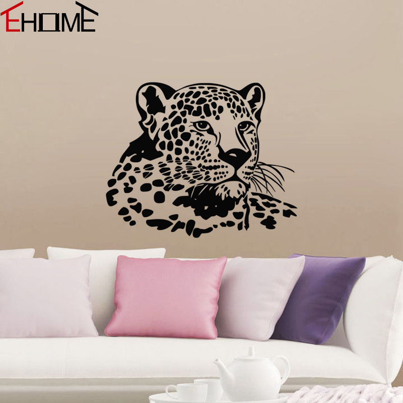 Bedroom Wall Stickers Cheetah Kids Room Decor Animal Head Wall Decoration New 2017 Wall Decals Vinyl