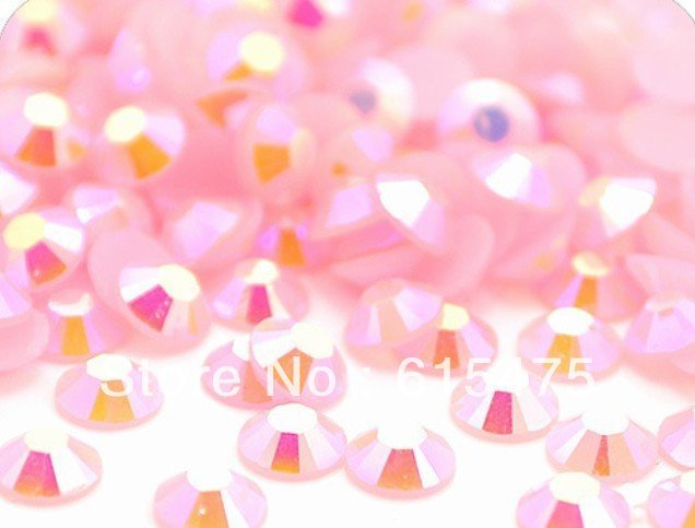 4mm Geléia Light Rose/Rosa AB Cores, cristal SS16 strass Resina flatback, Frete Grátis 50,000 pçs/saco