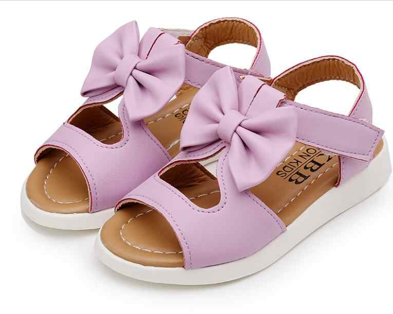e570705954e0a Children Princess Shoes 2018 Brand Spring Summer Girls Shoes Baby Kids  Leather Shoes for Girls Sandals