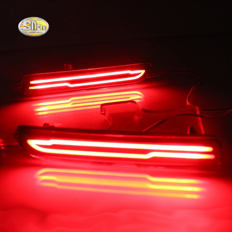 купить SNCN LED rear lights For Suzuki Vitara S-cross 2015-2016 LED Car Rear Bumper Reflector driving Tail Brake Light Turning Lights недорого