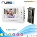 2016 Hot sale 7 inch LCD multi apartment video door phone Monitors with 700TVL Home Security waterproof Camera intercom system