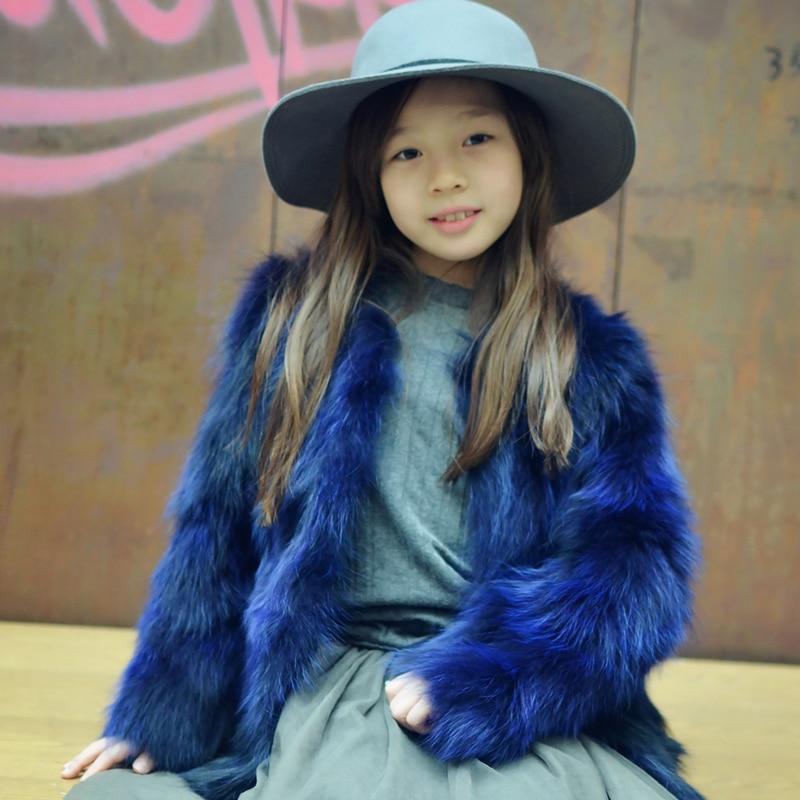 Girl Real Fox Fur Coat Children fur Warm Winte Fur Jacket Natural Raccoon Fur Coats цена