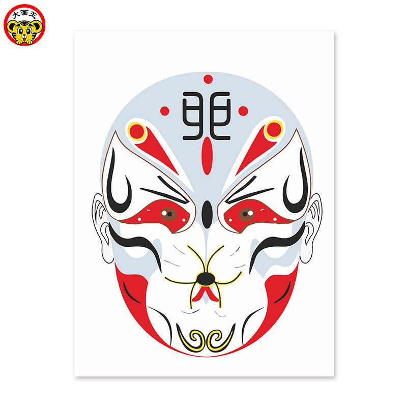 Картина по номерам художественная краска по номеру лицом обезьяна, DIY Цифровая живопись, китайский стиль, Facebook, Бог, украшение, обучение, Горячая