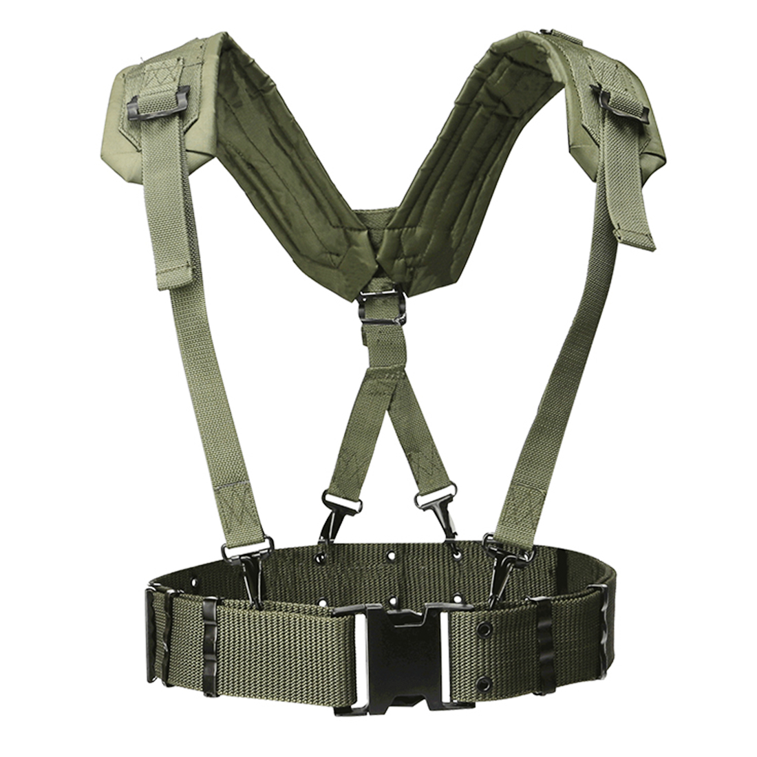 HTB1ybpga0jvK1RjSspiq6AEqXXaT - HS Adjustable Tactical Lightweight Waist Belt Harness Set for Outdoor Military Shoulder Waist Protective Band for Adult