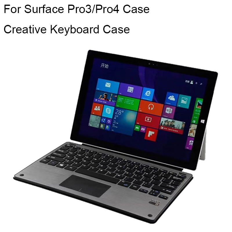 For Surface Pro 4 Keyboard Ultra thin Backlit Wireless Bluetooth Case Type Cover For Microsoft Surface