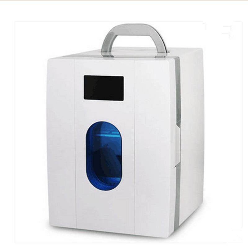 220V Car Refrigerator Portable 10L Multifunction Car Fridge Cooler And Warmer Mini DC 12V AC 220V For Travel Office School