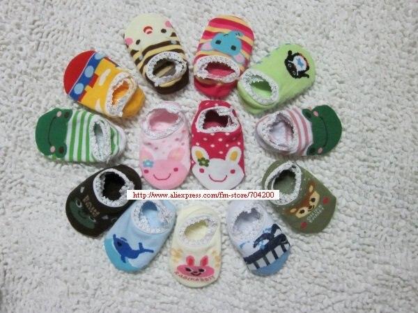 5 пар/партия, носки для малышей, 18 дизайнов, нескользящие носки для малышей