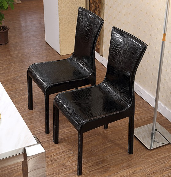 MYBESTFURN Simple PU Leather Chairs For Dining Table Set Cheap Chairs  Dinning Room Furniture Crocodile Leather Chairs HH666 In Dining Chairs From  Furniture ...