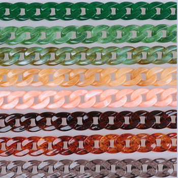 Fish Bone 60-120cm Acrylic Resin Chain Bag Strap Handbag Plastic Strap Fashion Colorful Women Bag Accessories Shoulder Strap