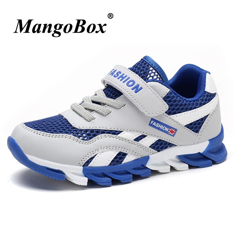 Summer 2018 Kids Shoes Boy Sneakers Luxury Boys Trainers Brand Children Sport Shoes Boys Mesh Breathable Boys School Footwear