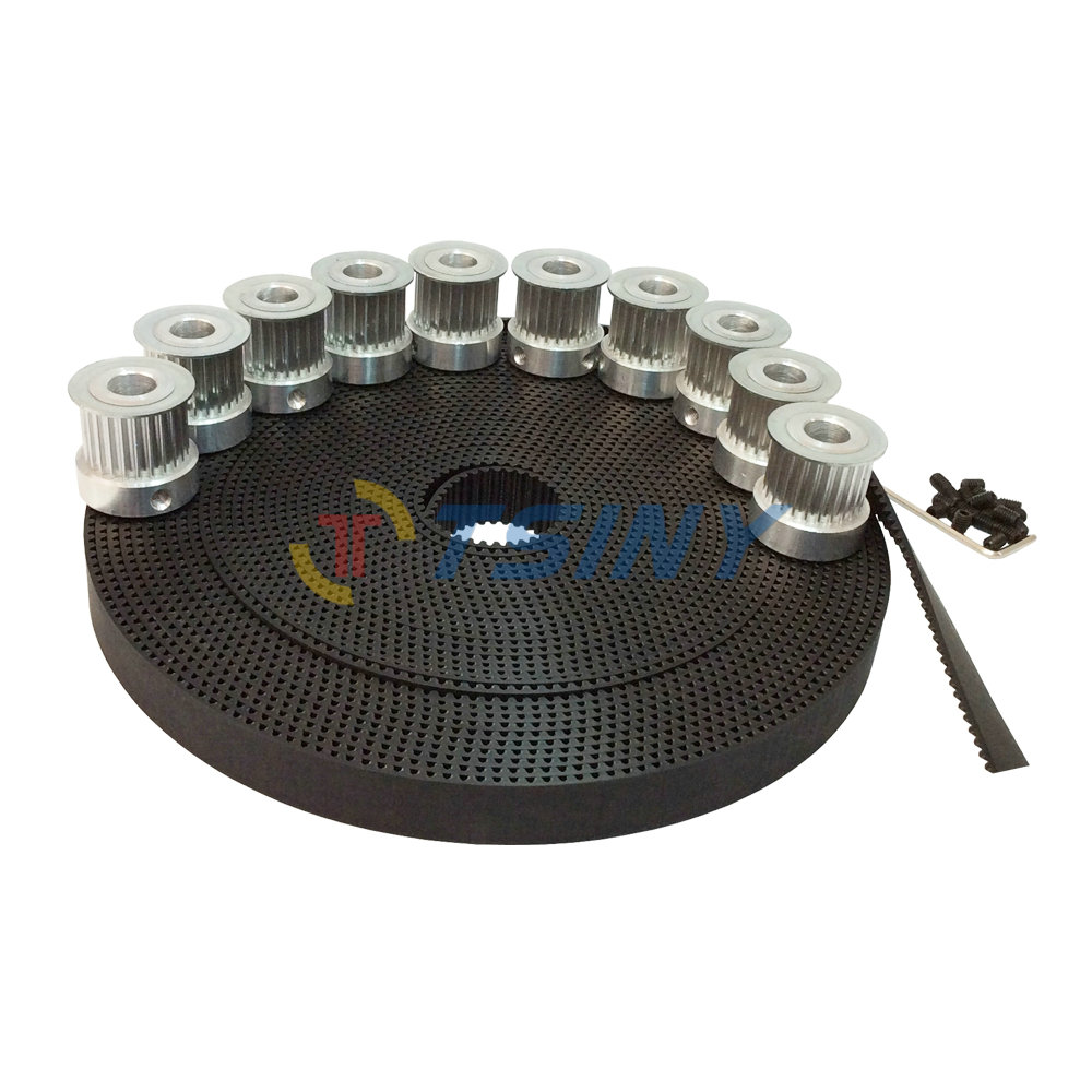 HTD 3M Open Ended Timing Belt 10 Meters Polyurethane with Steel Core & 3M Timing Pulley 10pcs 15 Teeth Bore 5mm 6mm 6.35mm 8mm 3m timing belt pulley 5pcs 15 teeth 3m pulley bore 5mm 6mm 6 35mm 8mm