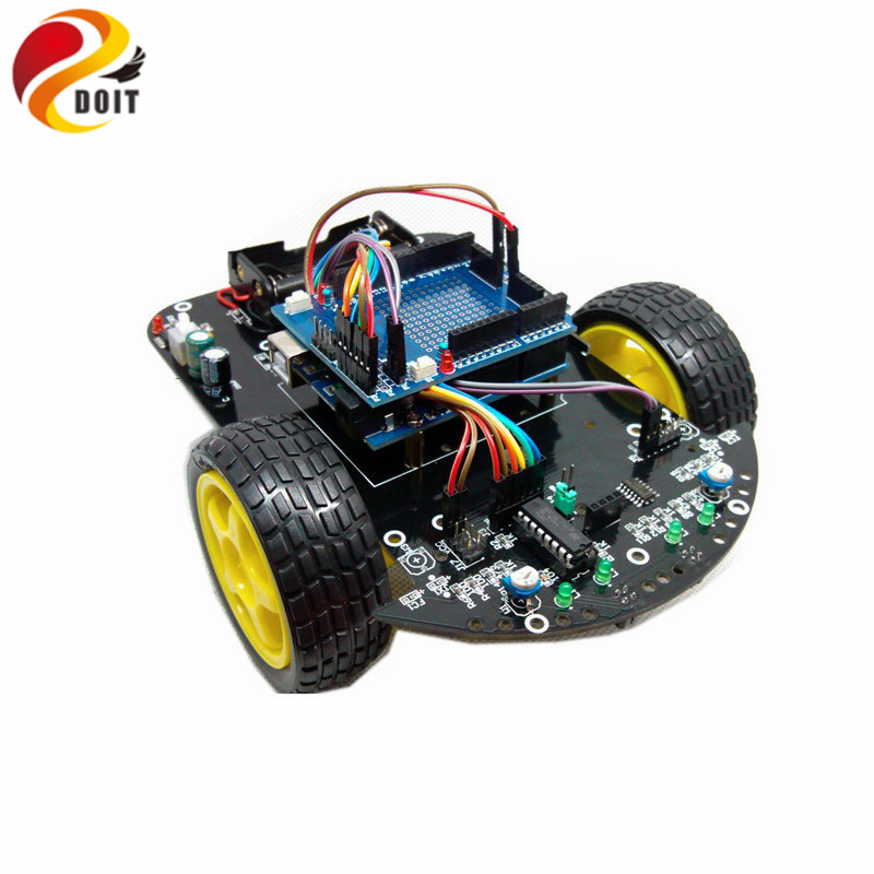 DOIT Smart Car Intelligent RC Robot Starter Kit DIY Elecotronic Toy Development Suit Raspberry Pi Remote Control Toys original doit silver c300 metal 4wd wheel car chassis development kit remote control diy rc toy smart robot car model