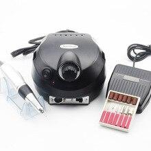 35000RPM Pro Elektrische Nagel Bohrer Maschine Mit Griff Gerät für Maniküre Maschine Datei Kit mit Cutter Nagel Kunst Polierer werkzeuge
