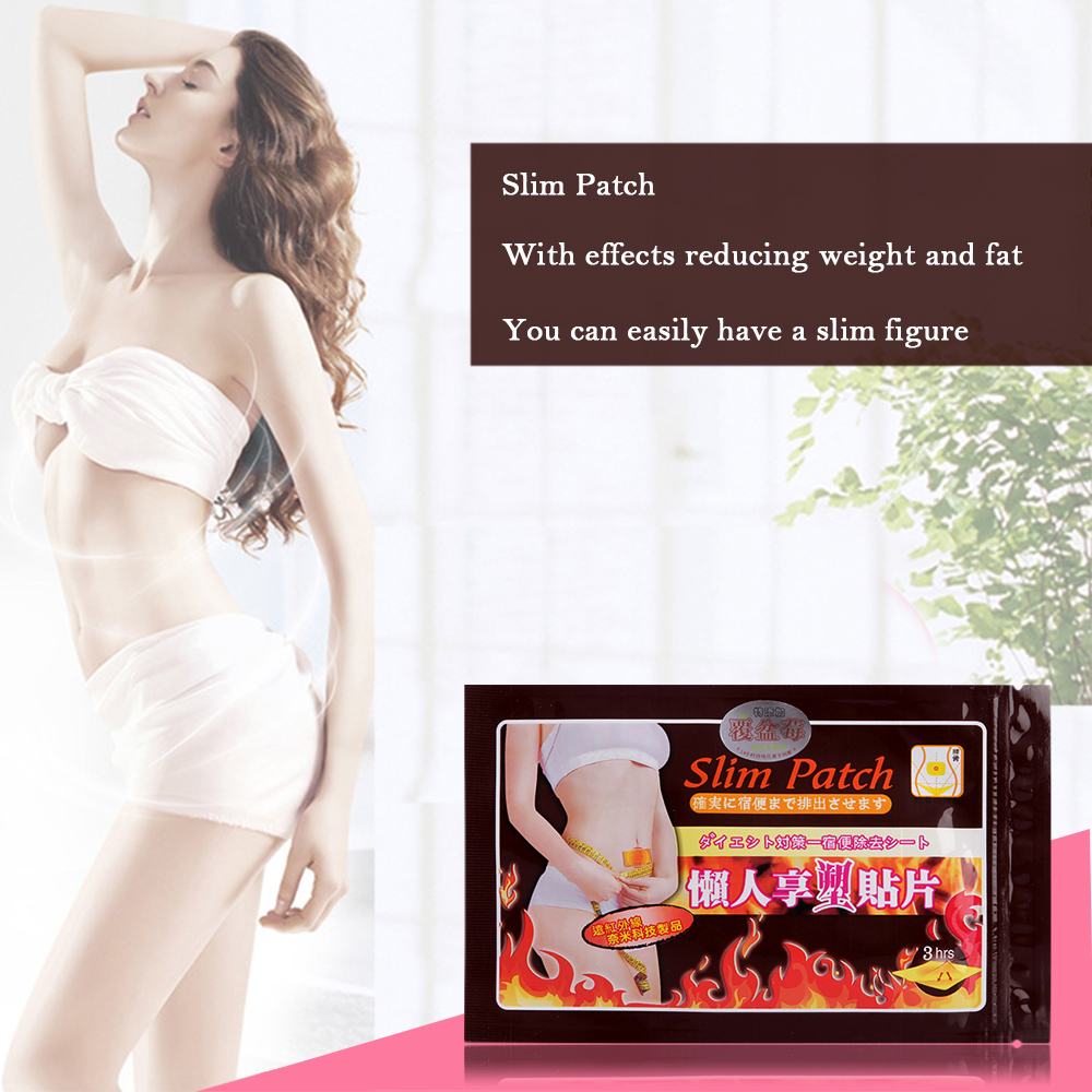 10pcs/bag Help Sleep Lose Weight Toiletry Kits Patch Weight Loss Fat Navel Stick Burning Fat Magnets Of Lazy Paste Slim Patches