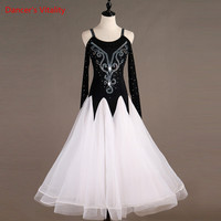 Custom Made Diamond Ballroom Dancing Competition Dresses Women's Ballroom Dresses Standard Dance Dresses Waltz Dance Wear
