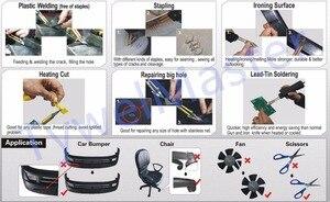 Image 5 - Grapadora caliente para reparación de parachoques de coche, guardabarros, Kit de reparación de plástico, soldador de carenado, máquina de soldadura de plástico portátil