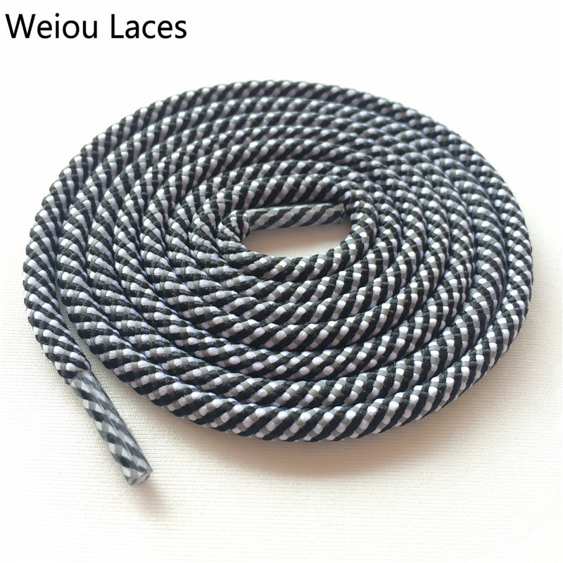 Weiou Round Type 3 Toned 3M Reflective Rope Shoelaces Woven Shoe Laces Bootlace Custom Shoestrings For Trekking boots 350 750 цена в Москве и Питере