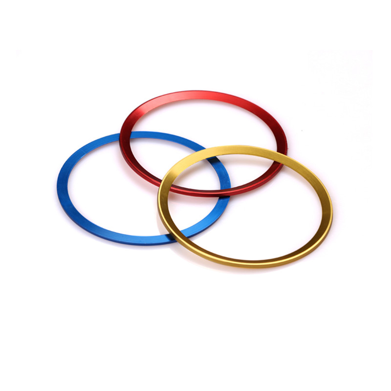 4pcs/set <font><b>Wheel</b></font> Hub Cover Sticker Decorative circle ring for <font><b>Peugeot</b></font> 307 206 308 207 <font><b>406</b></font> 407 408 Refitting Accessories Styling image
