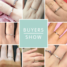 Authentic 925 Sterling Silver Round Crystal Finger Rings for Women