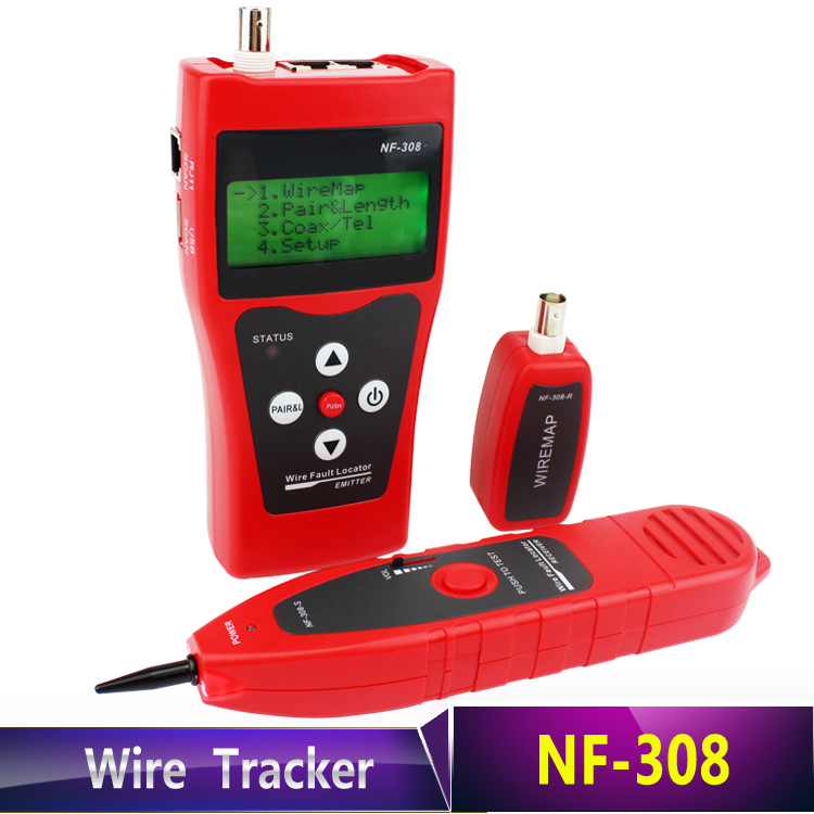 Free shipping NF-308 Cat5 6 RJ45 UTP STP Line Finder Telephone Wire Tracker Diagnose Tone Tool Kit LAN Network Cable Tester network wire tracker nf 806b handy support trace telephone wire lan cable free shipping not include battery