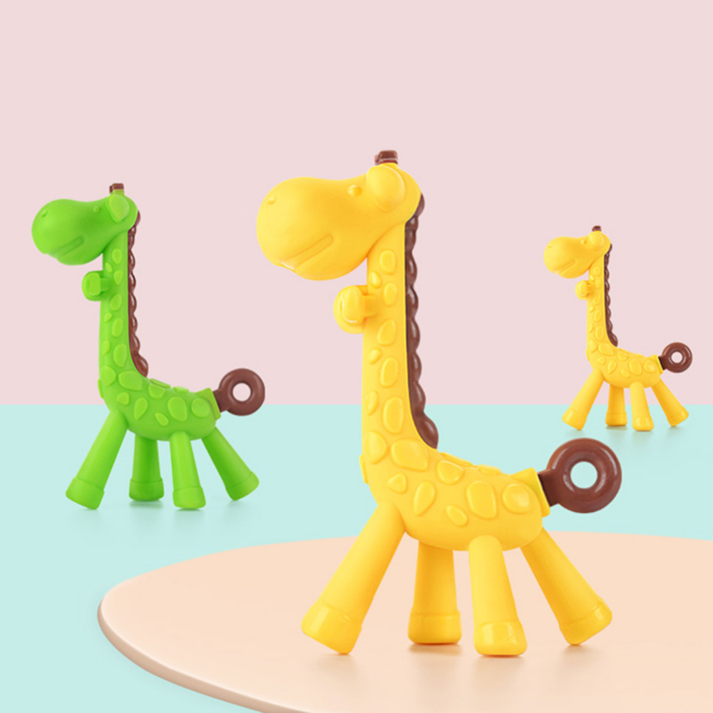 NEW Baby Teethers Children Silicone Bite Toy kids Rattles
