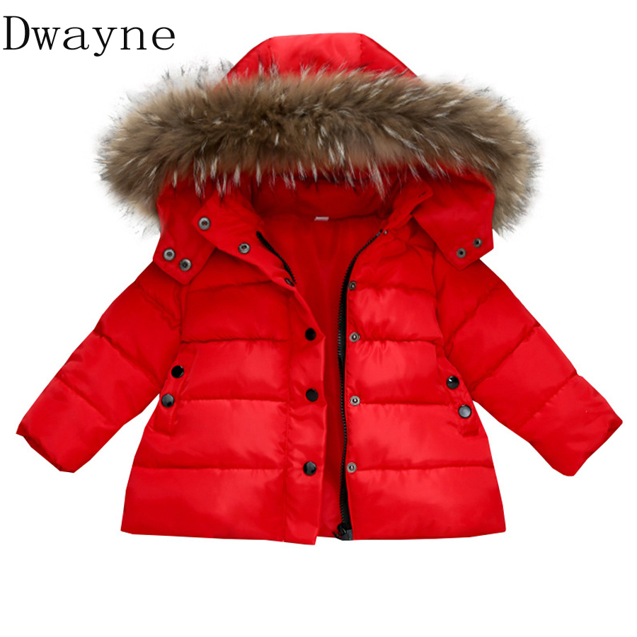 New Year 2018 Children Down Jackets Coats Spring Winter Jacket for girls Boys Clothes Kids Red Coat Baby Clothing girl Parkas ins spring kids jacket pu leather girls jackets clothes children outwear for baby girls boys clothing coats costume winter 1 7y