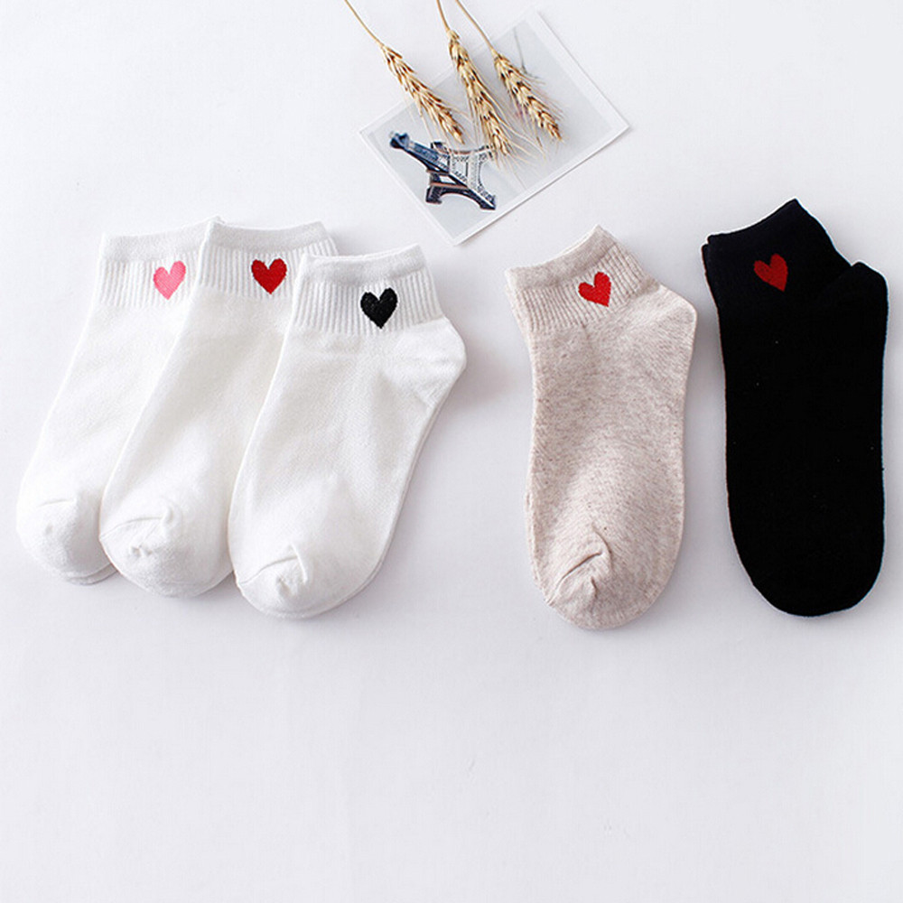 2019 TOP Women Heart-Shaped  Fashion Skateboard Sock Comfortable Socks 2.19