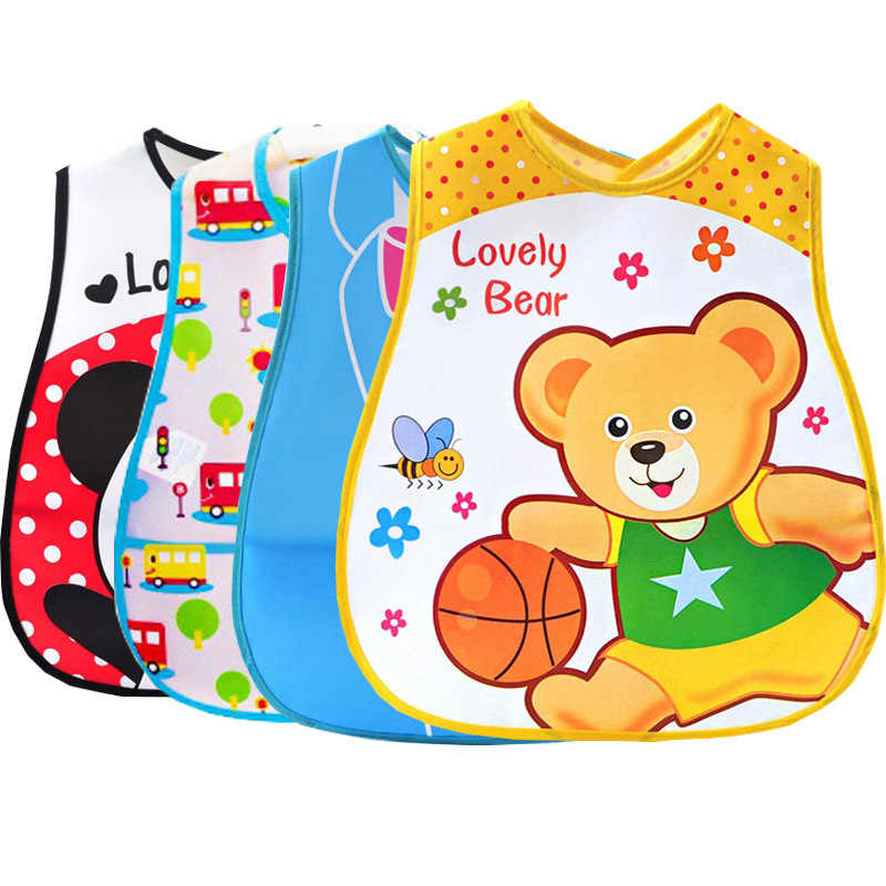 Baberos de rollo de bebé ajustable a prueba de agua eructo infantil animales de dibujos animados lavable delantal niños alimentación comer Smock Saliva toalla