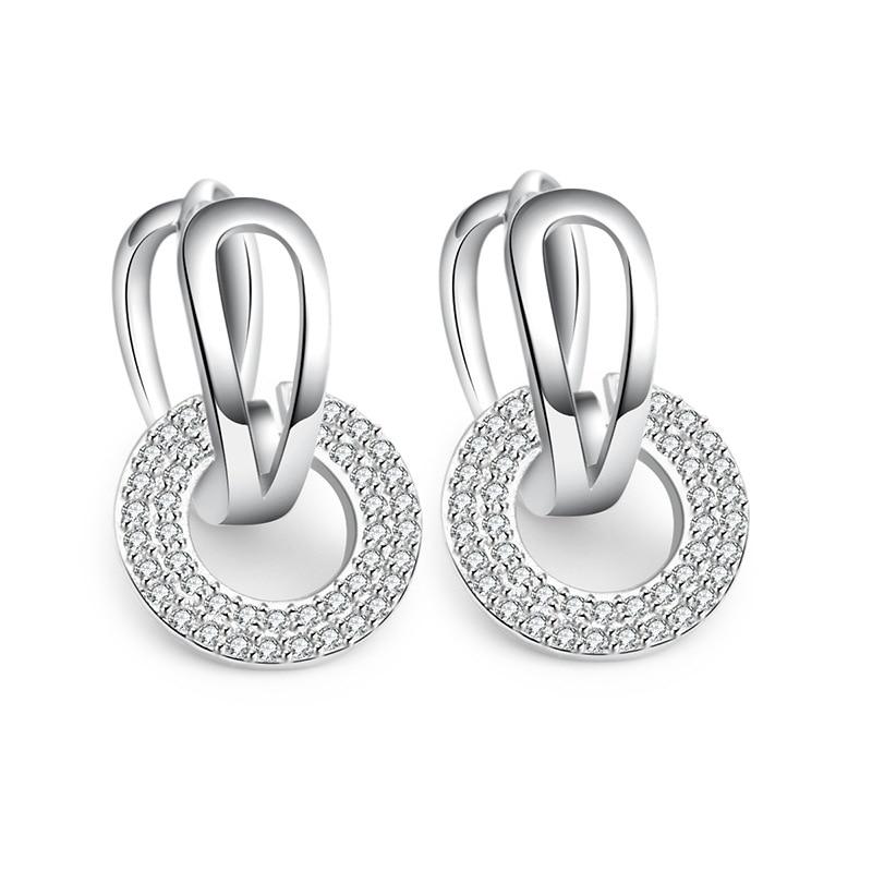 925 Sterling silver stud earrings wedding (6)