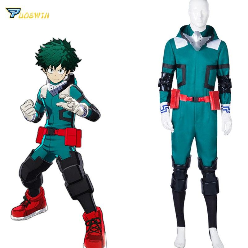 Anime mon héros académique Costume de Cosplay Izuku Midoriya Costume de Cosplay Boku pas de héros académique Deku Combats uniforme fête d'halloween